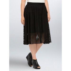 Torrid Mesh Stripe A-Line Midi Skirt 16